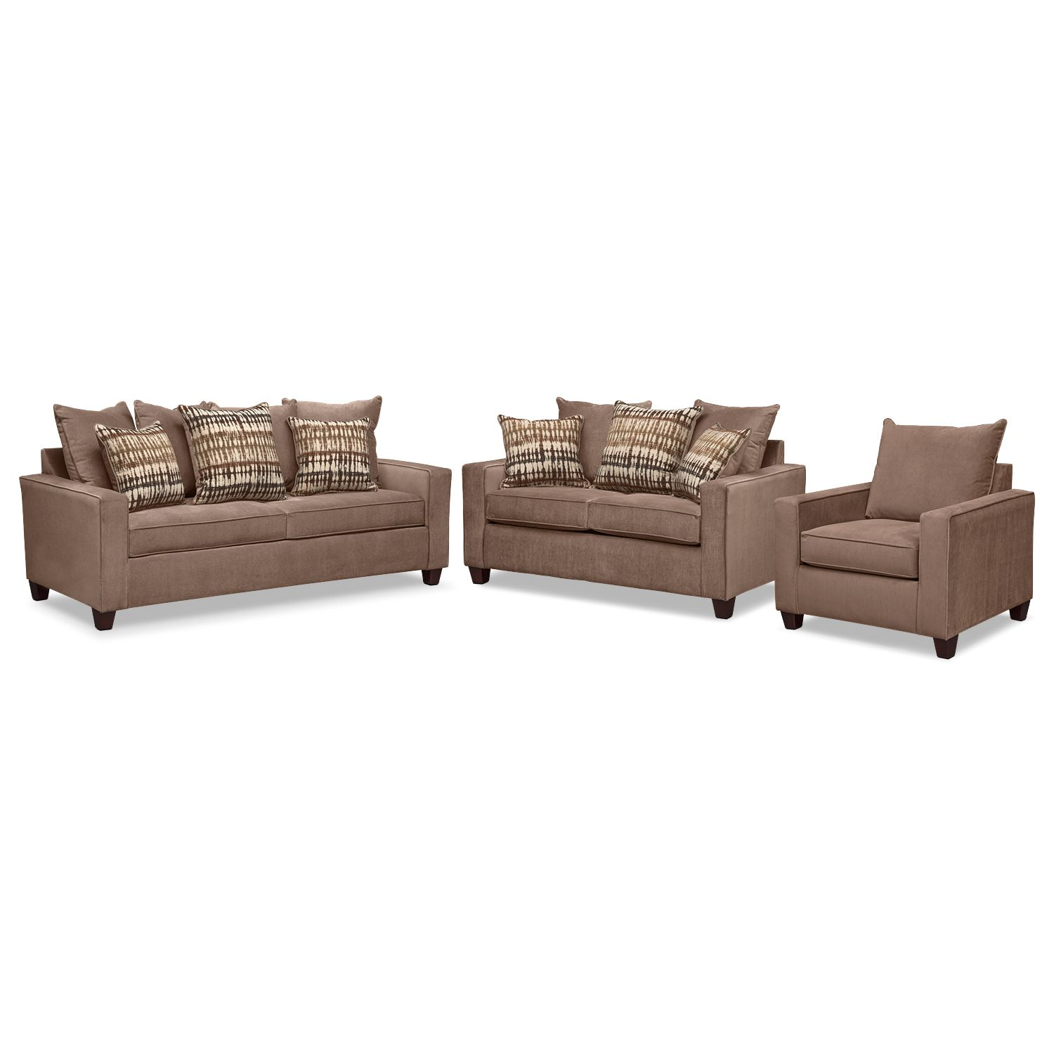 Living Room Furniture Ethan Cumulus 2 Piece Sectional with Right