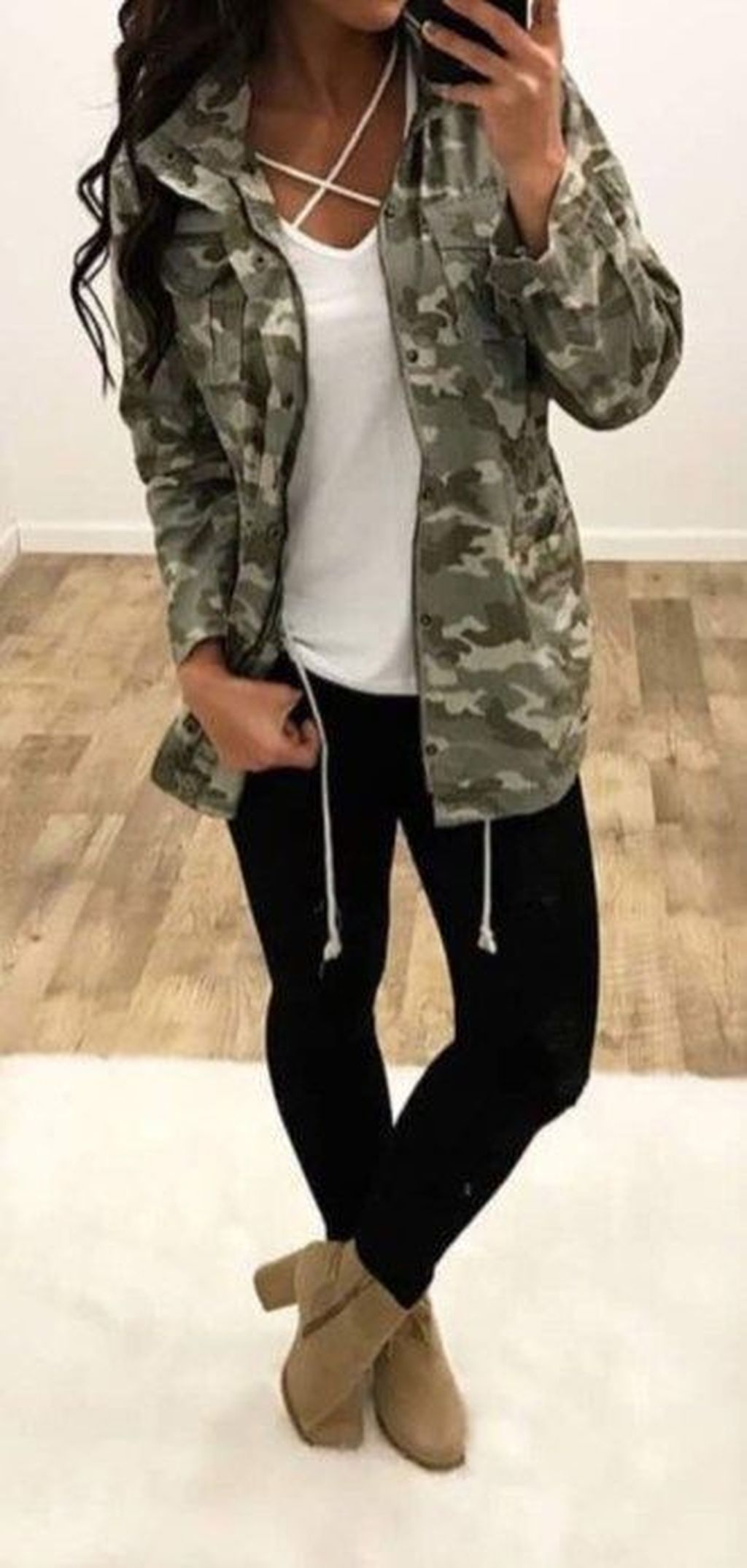 Get trendy in this awesome Camo Jacket! We're loving this Spring piece in a  classic camo print!