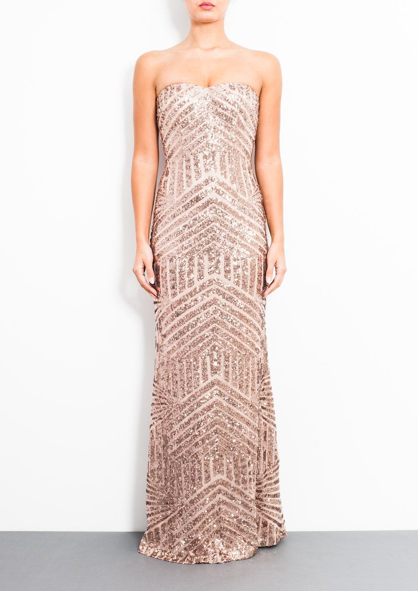 Forever Unique Celine Dress in Rose Gold | Vestidos | Pinterest ...