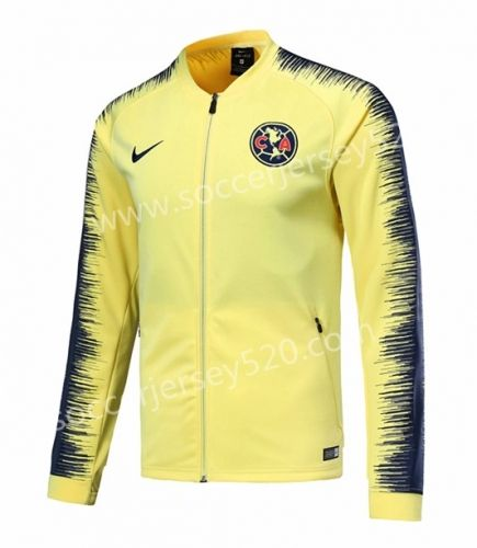 e41c4df2e7c 2019 的 2018-19 Club América Yellow Soccer Jacket Top 主题   cheap ...