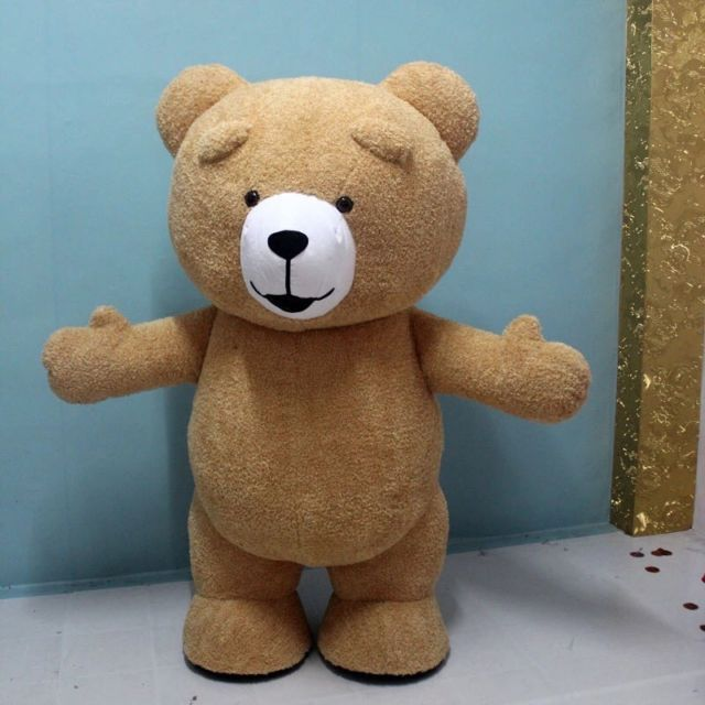New Teddy Bear of TED Adult Size Halloween Cartoon Mascot Costume Fancy Dress