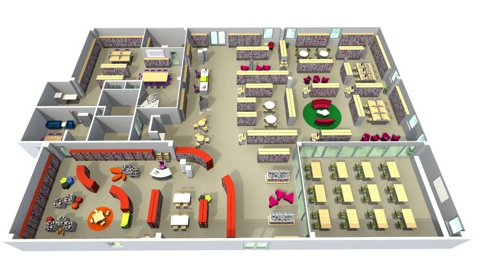Bci Library Floor Plan Layout Library Floor Plan Library Design