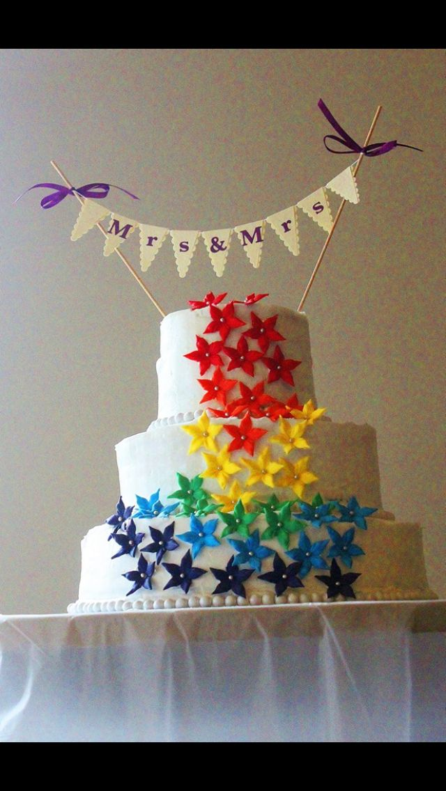 Perfect gay wedding cake!