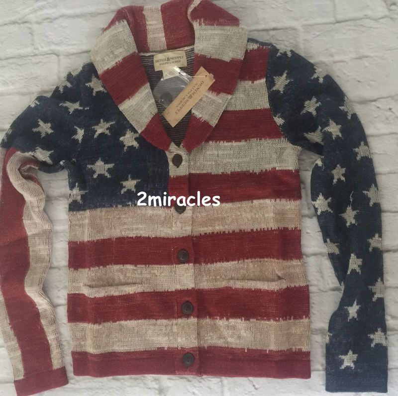 0c3097618 Ralph Lauren Denim & Supply Button-Up Cardigan Sweater USA Flag Women's S # RalphLauren #Cardigan | American Eagle Women's Style | Pinterest | Usa flag