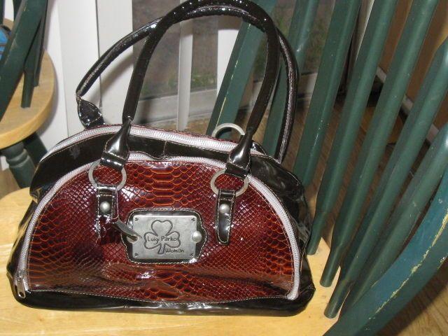 Gorgeous High Quality Luigi Parko Patent Leather Handbag Luigipanko Satchel