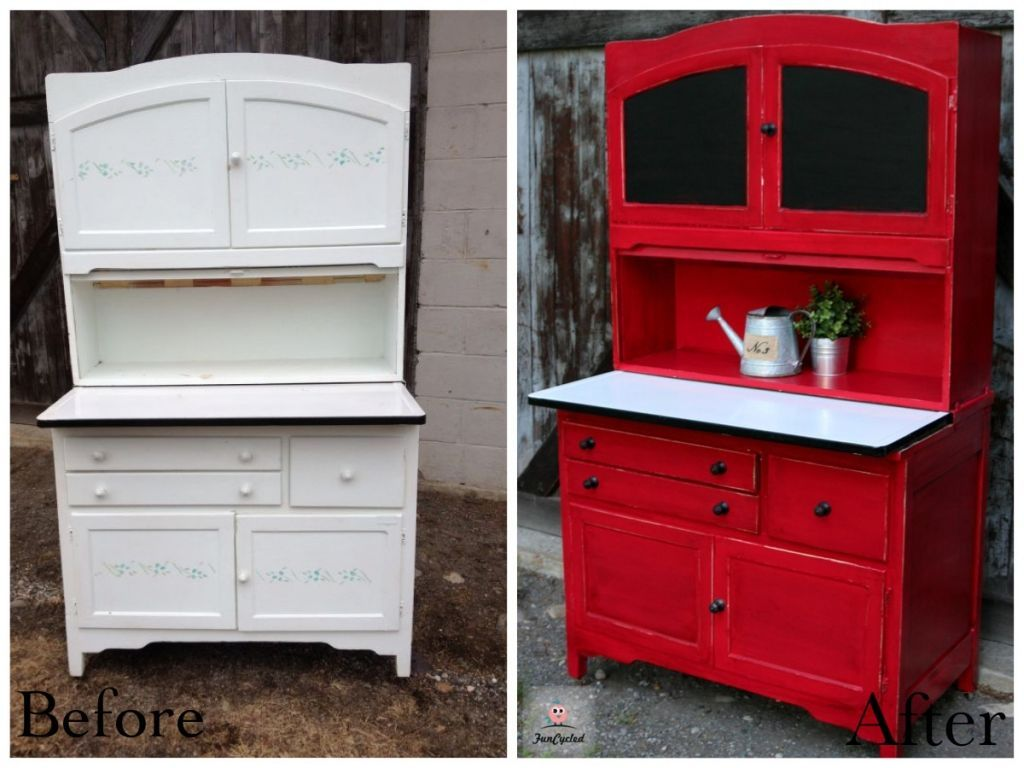 Nice Red Hoosier Hutch By FunCycled Www.funcycled.com