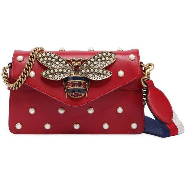 df5c90ef75e7 Gucci Women Broadway Bee Embellished Leather Bag ( 2