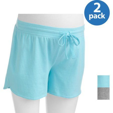 Danskin Now Maternity Essential Knit Shorts 2-Pack, Multicolor