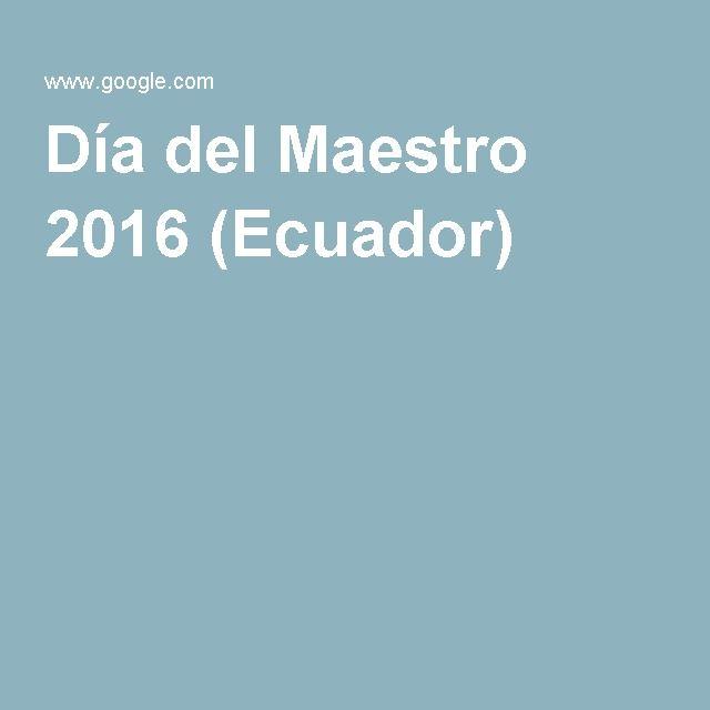 Día del Maestro 2016 (Ecuador)