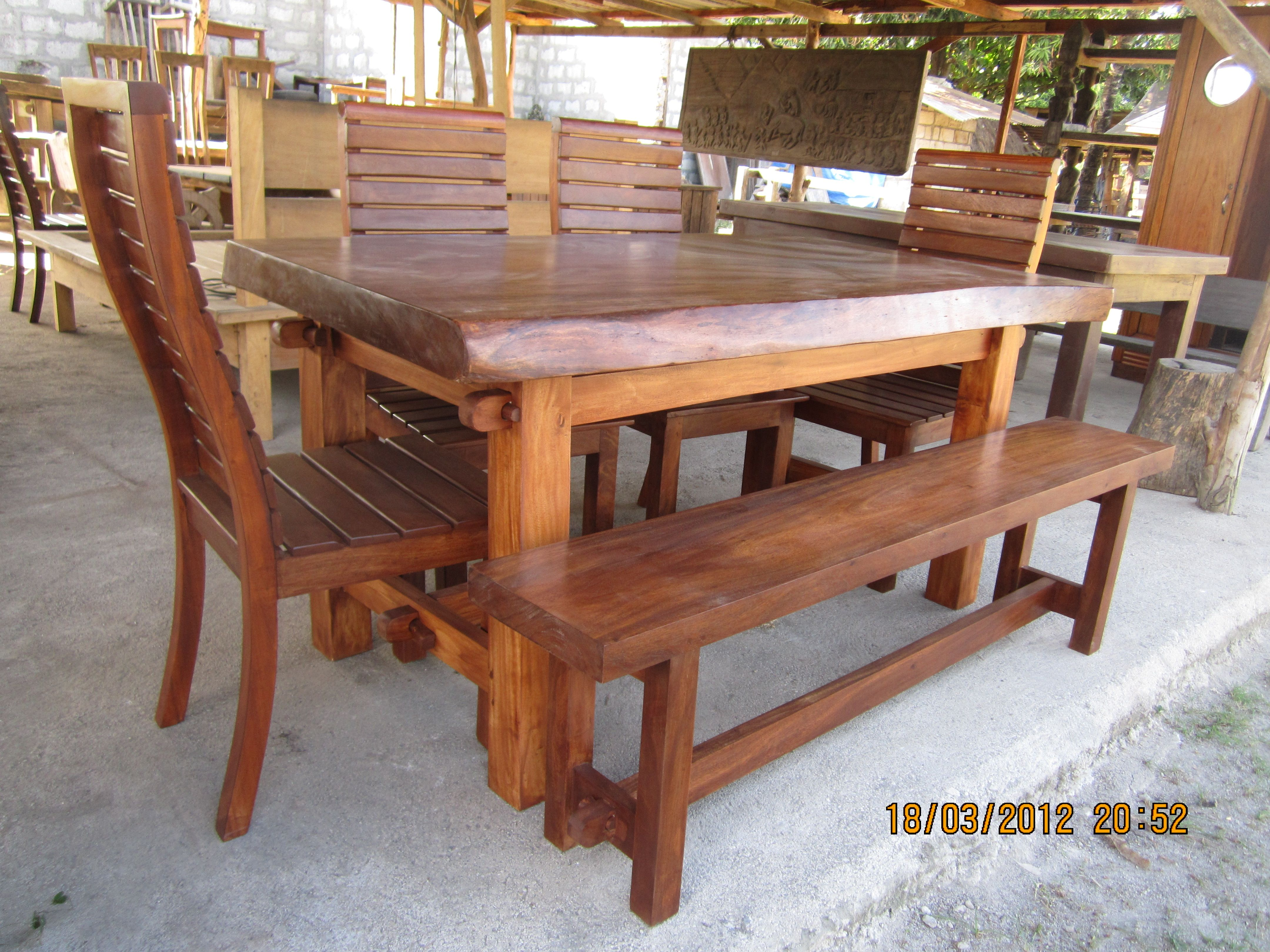 6 Sitters Dinning Set Acacia Wood 25 000 Wood Dining Table
