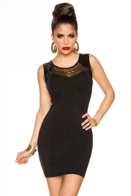 Kleid mit Goldreif schwarz-13447 - My-Kleidung Onlineshop | Kurze ...