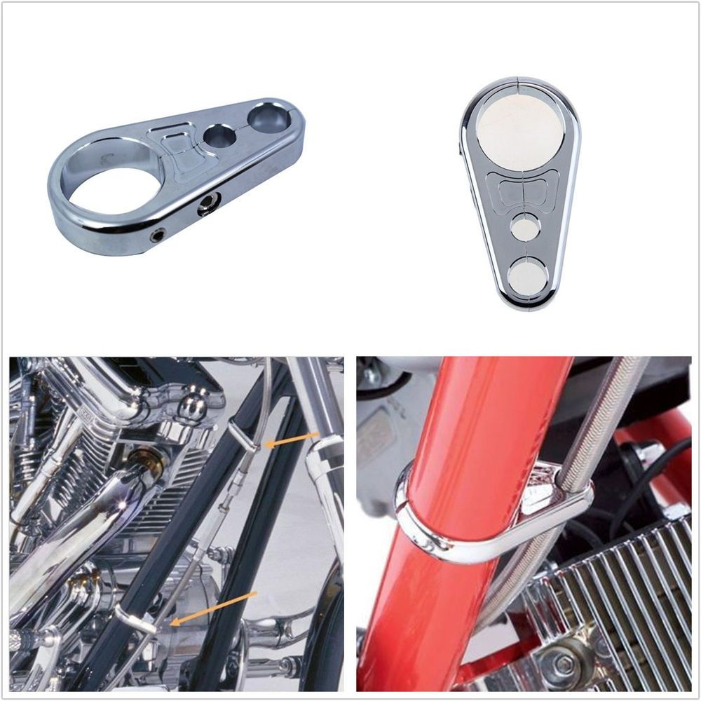 1 Pcs 25mm Handbar Chrome Alloy Motorcycle Clutch Brake Cable Motorcycles Yamaha Xj Maxim Wiring Diagram Wire Clamp Clip