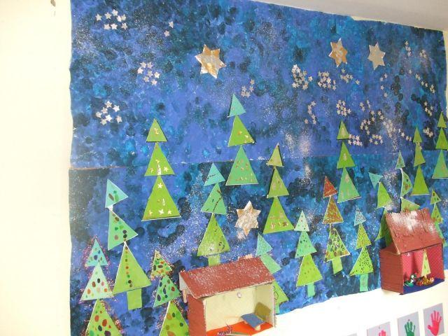 Fresque Collective Decoration Noel Maternelle Noel Maternelle Deco Noel Maternelle