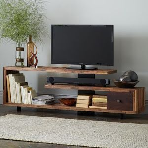 te damos 3 ideas para el mueble tv tres opciones para aprovechar tus palets tanto si quieres poner el televisor colgado como encima del mueble - Muebles De Television