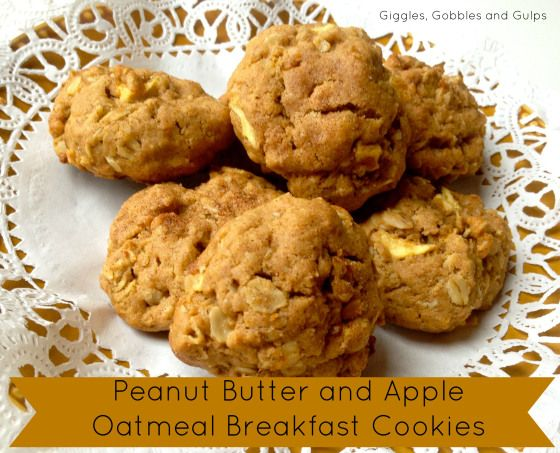Peanut Butter and Apple Oatmeal Breakfast Cookies (one bowl recipe) via Giggles, Gobbles and Gulps http://gigglesgobblesandgulps.com/2013/07/12/oatmeal-breakfast-cookies/