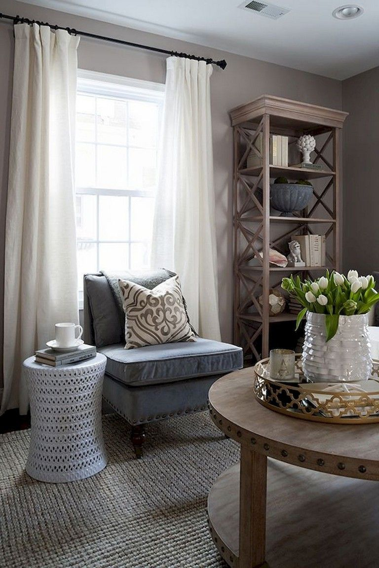 90+ Awesome Modern Farmhouse Curtains for Living Room ... on Farmhouse Living Room Curtain Ideas  id=89620