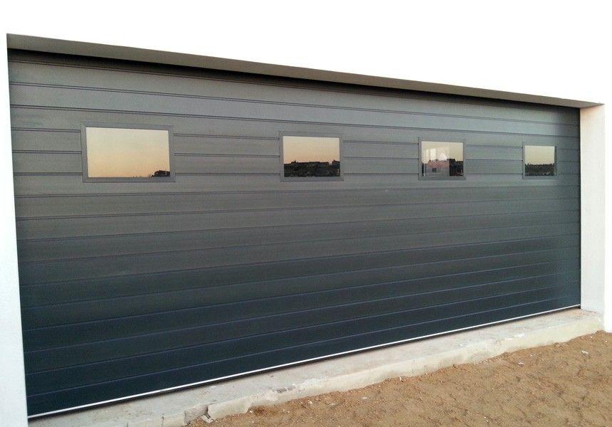 Double Garage Doors With Windows aluminium-double-windows-charcoal | garage ideas | pinterest