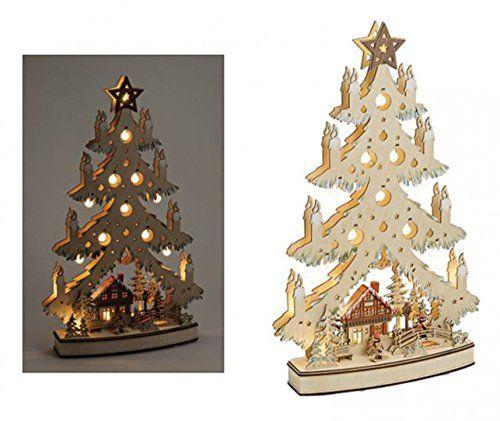 "Weihnnachtsbaum-Christbaum beleuchteter Schriftzug /""Frohe Weihnachten/"" LED Holz"