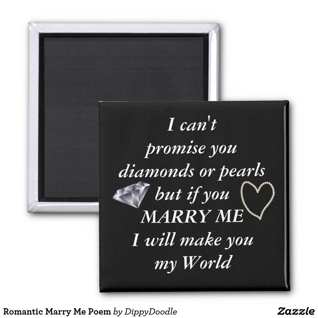 Romantic Marry Me Poem Marry me