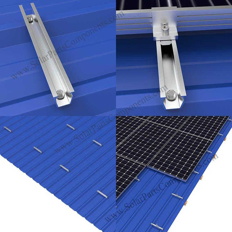 Solar Metal Roof Mounts U Rail In 2020 Metal Roof Metal Roof Installation Solar