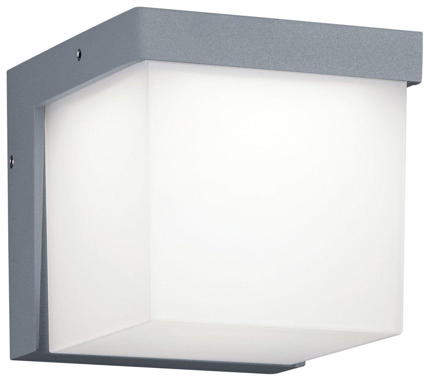 Trio leuchten led outdoor wall light diecast aluminium titanium