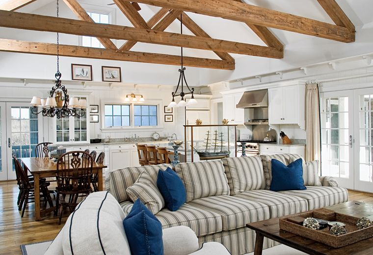 Great Room With Beachy Look O Connor Custom Builders Nantucket Ma With Images White Home Decor Luxury Homes Home Decor