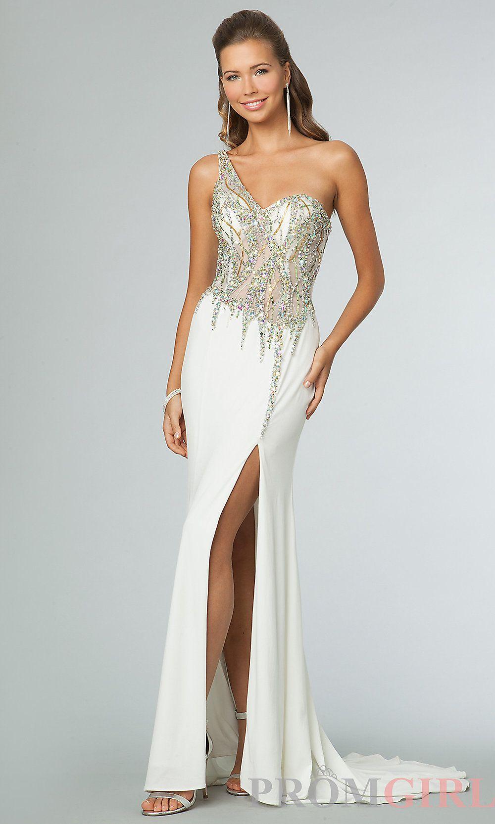 One Shoulder Prom Gown, JVN by Jovani One Shoulder Dress-#prom ...