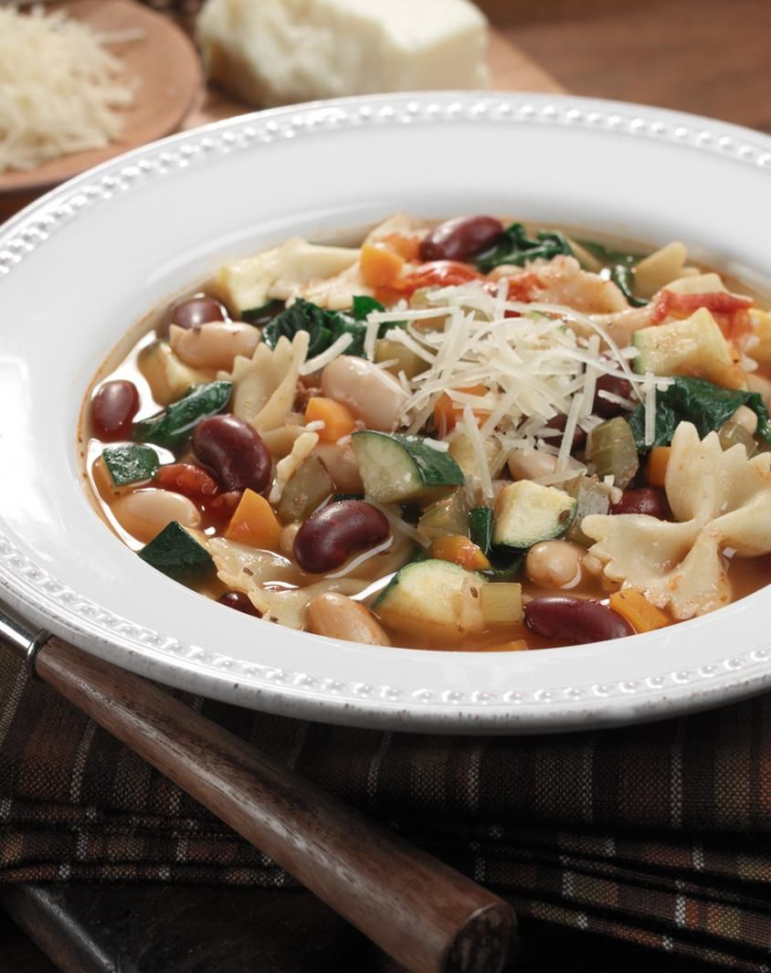 Red, White and Bean Minestrone