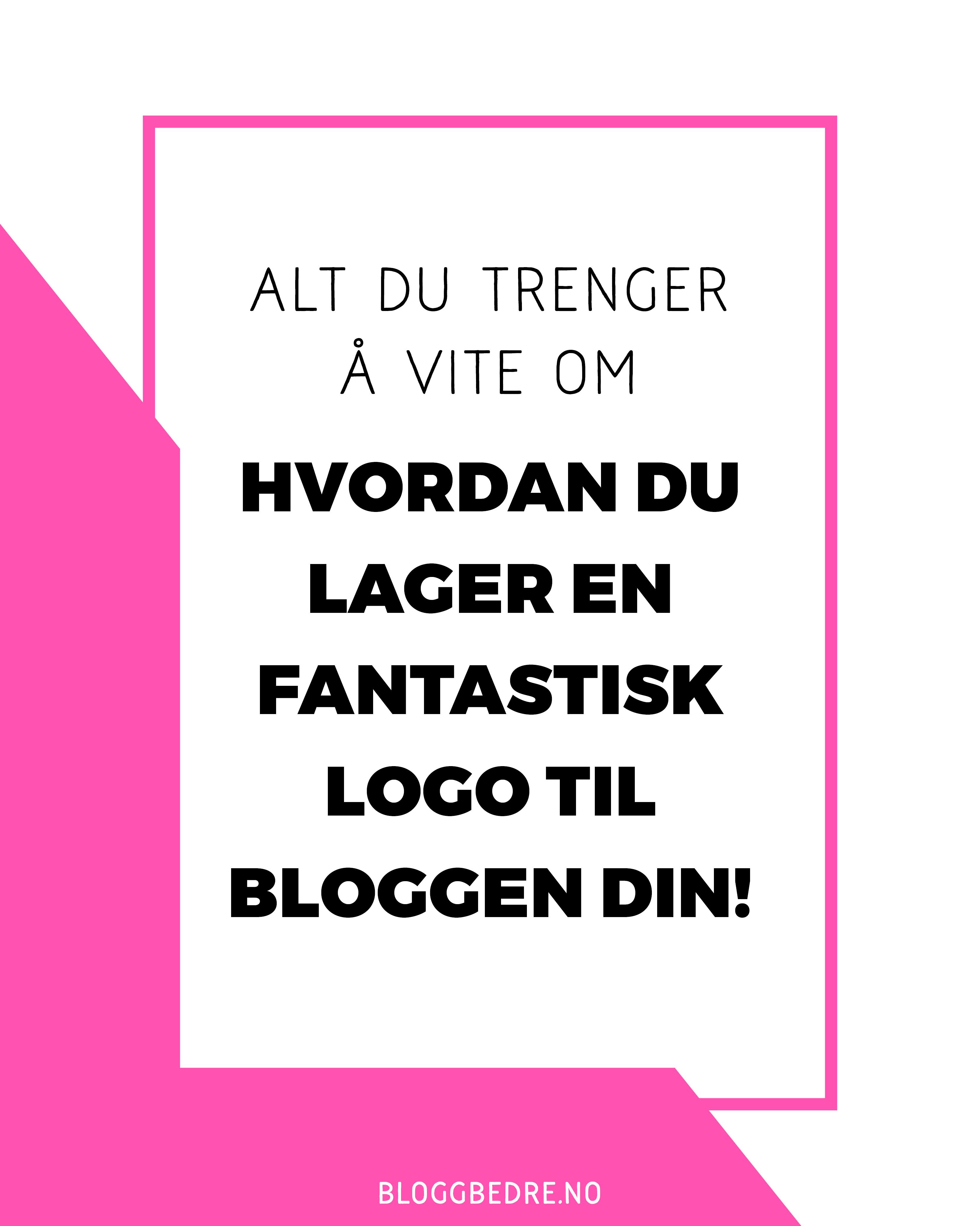 Hvordan får du en god logo, som passer perfekt? Det finnes mange alternativer, her viser jeg deg hvordan du lager en fantastisk logo til bloggen din!