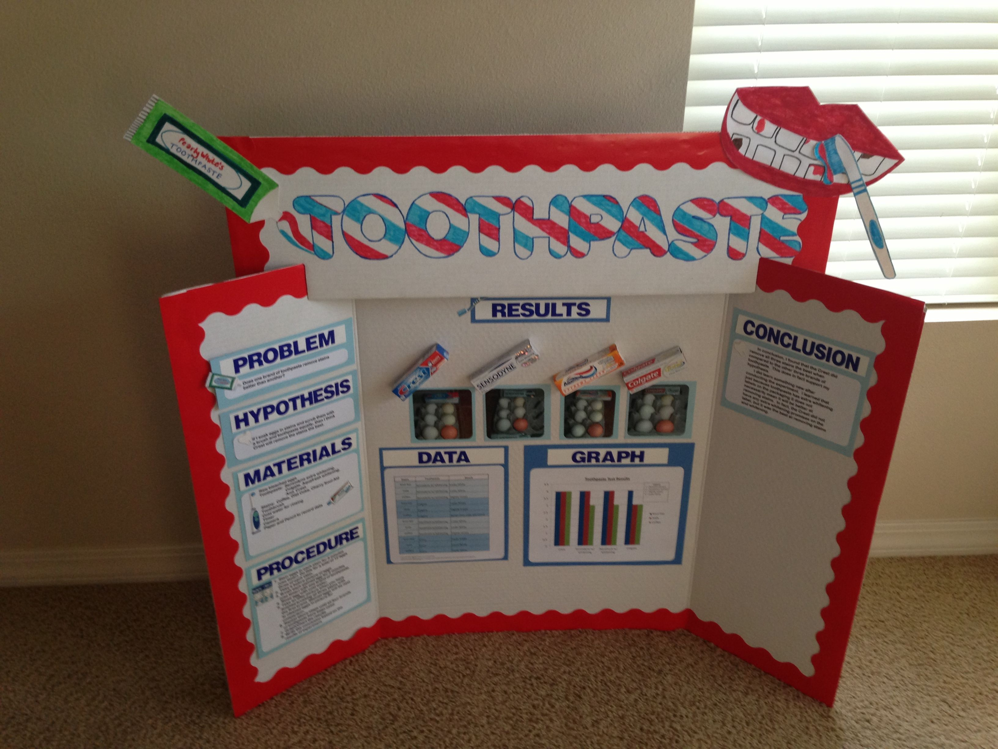 Toothpaste Science Project Science Fair Projects Science