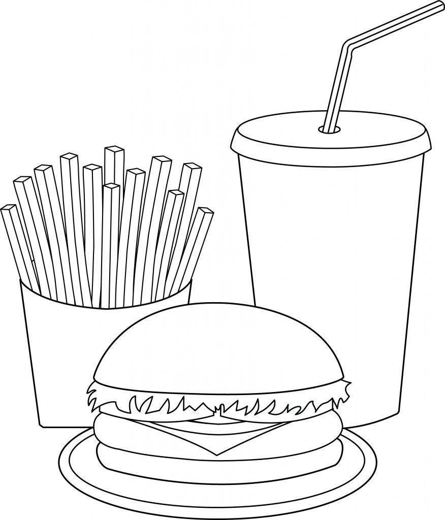Hamburger Coloring Pages In 2020 Food Coloring Pages Coloring