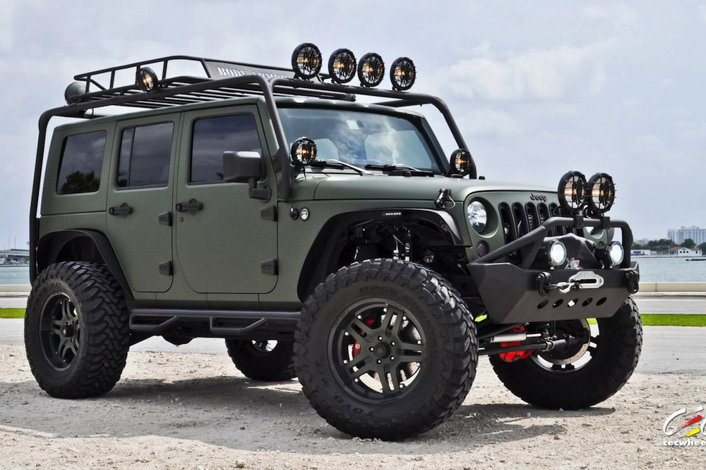 Military Green Jeep Wrangler By Cec Wheels Green Jeep Green