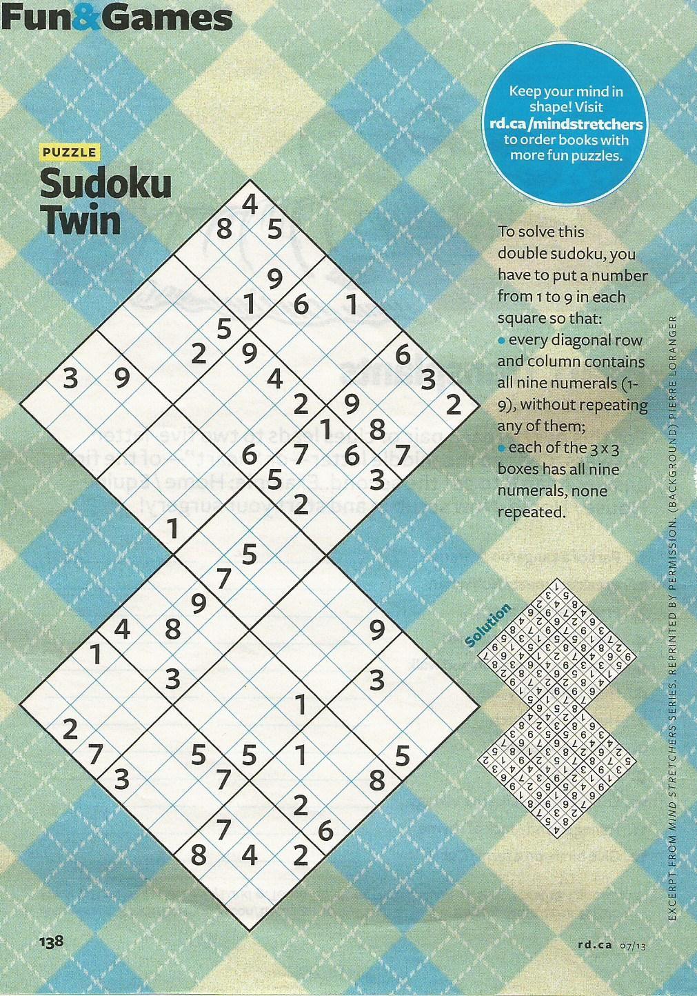 Sudoku Twin | Beautiful Minds | Pinterest