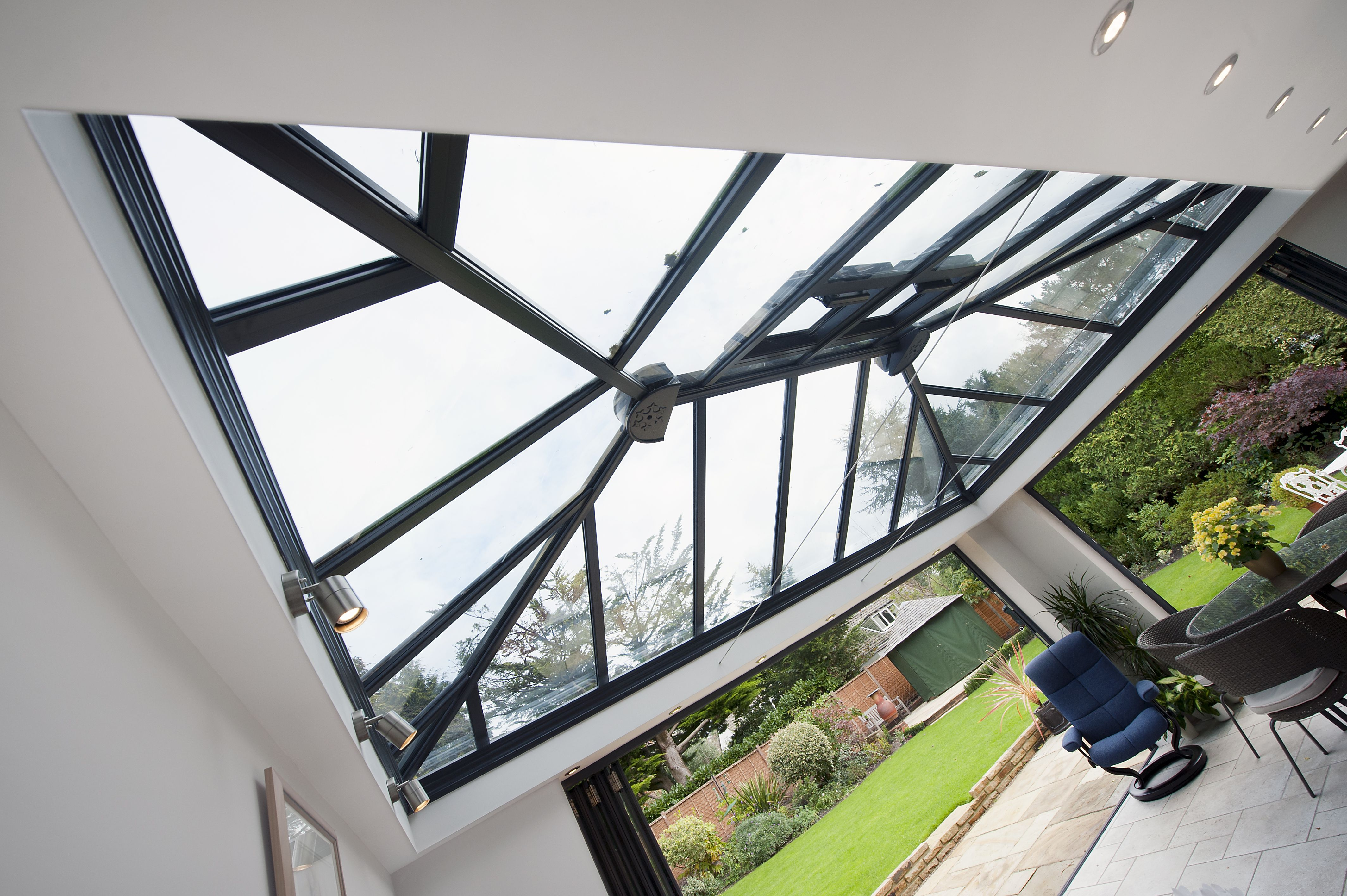 This Garden Room Benefits From The Fitting Of Modern Tie Wires Instead Of The Traditional Bulky Tie Bars Seen In So Many Of T Garden Room Bifold Doors Ferndown