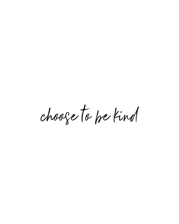 Printable Yoga Quote  Choose To Be Kind Inspiration  Wall Art