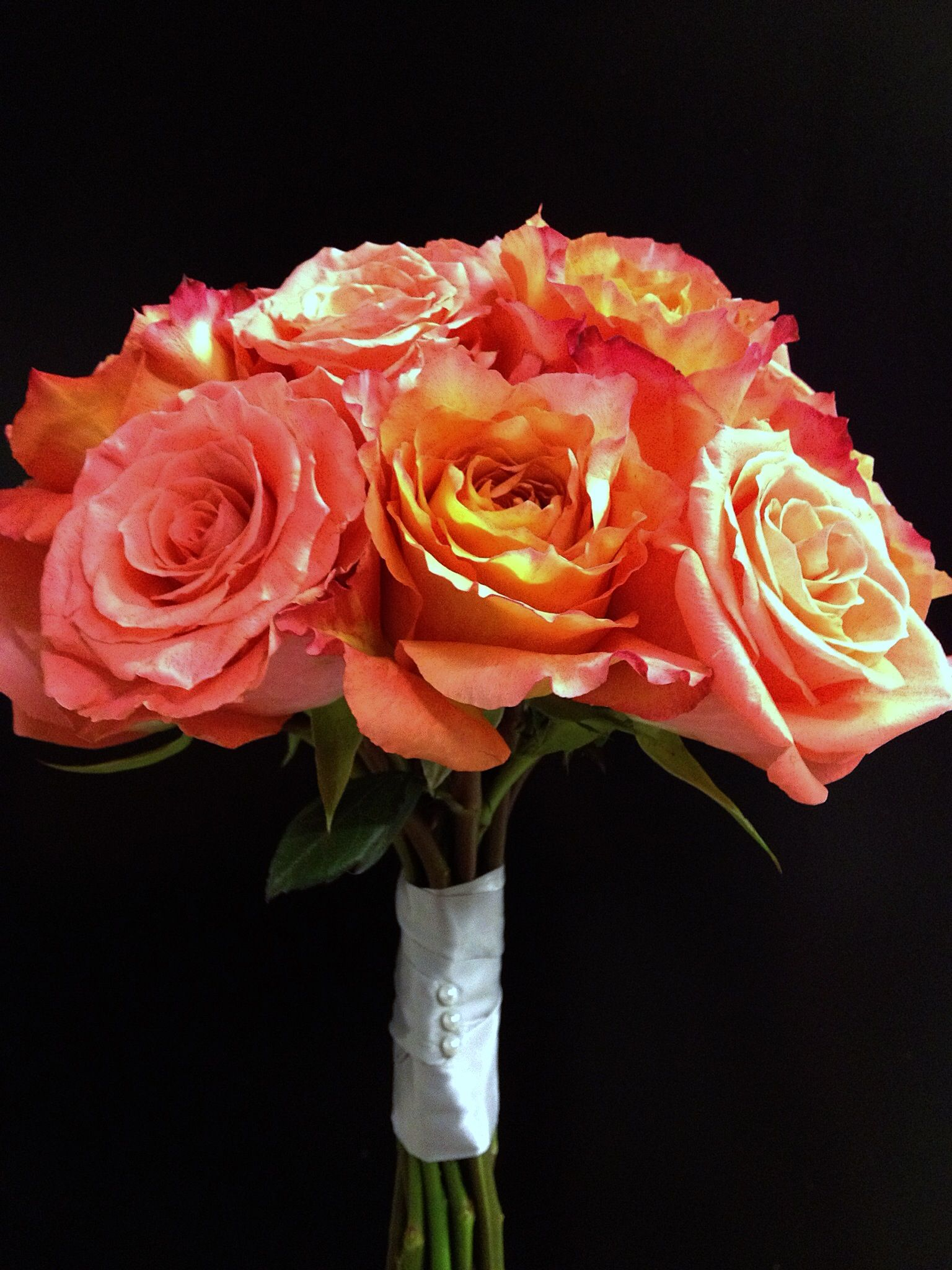Amsterdam and Free Spirit Rose Bouquet. Jenny flowers