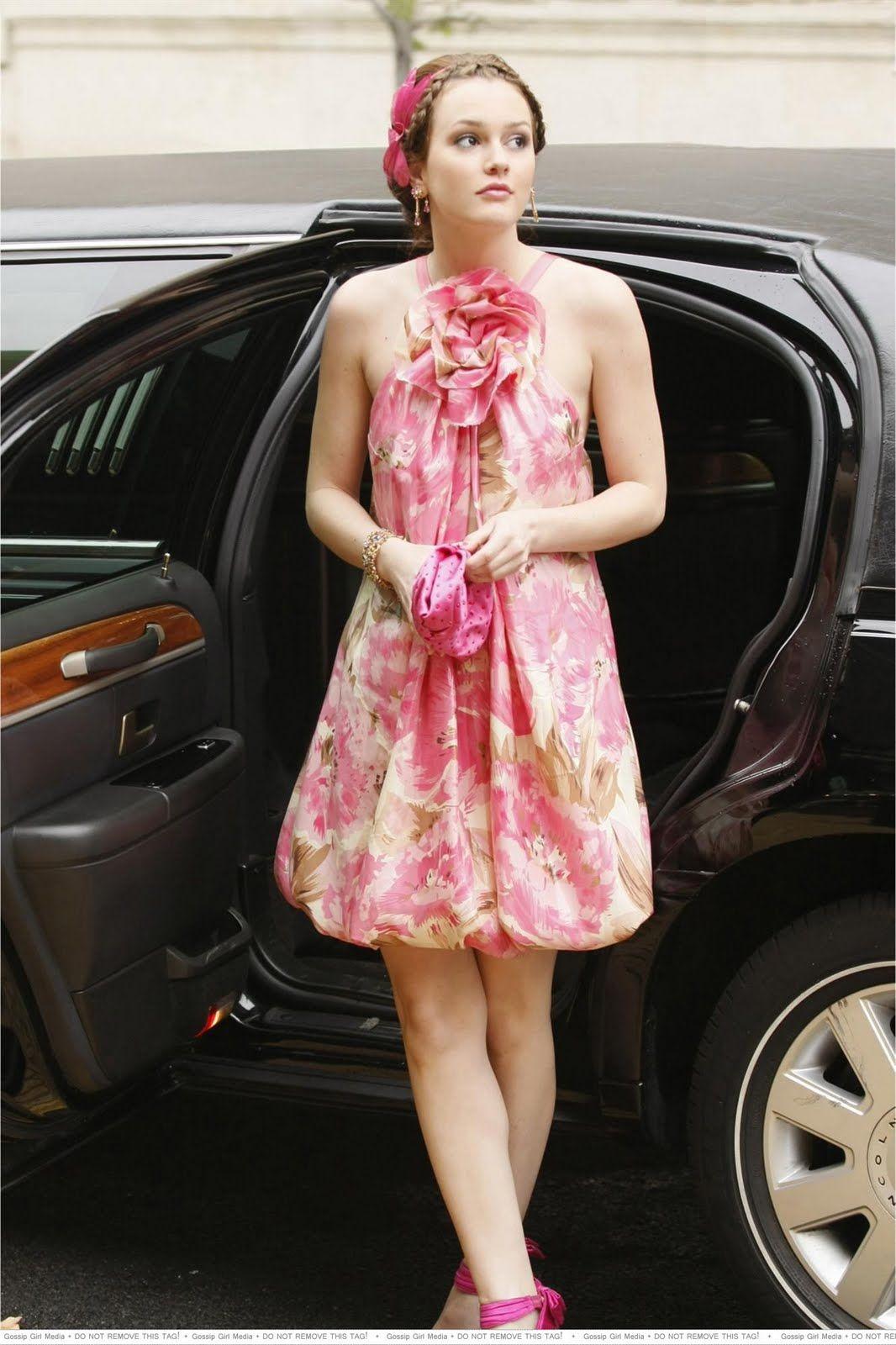 Leighton Meester as Blair Waldorf in Gossip Girl; love this dress