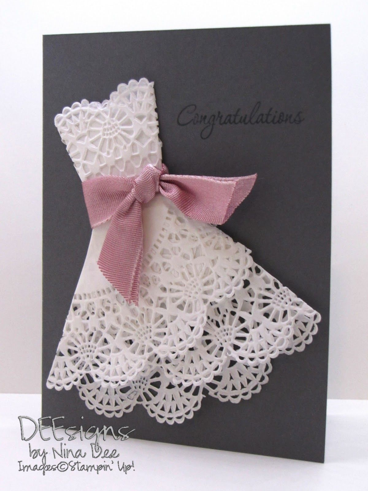 Gift Card Tree Ideas Pinterest - Deesigns by nina dee wedding wishes made with doily dress tutorial on card tutorials hints tips folder