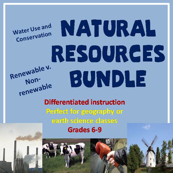 Natural Resources Bundle | Student-centered resources, Water ...