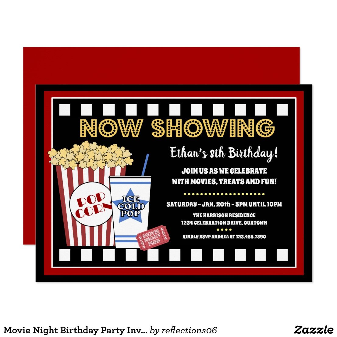 Magnificent Movie Birthday Party Invitations Collection - Resume ...