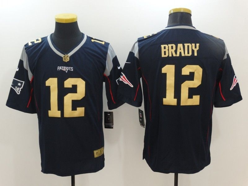 info for 74ca7 86958 Nike Patriots 12 Tom Brady Navy Gold Limited Jersey ...