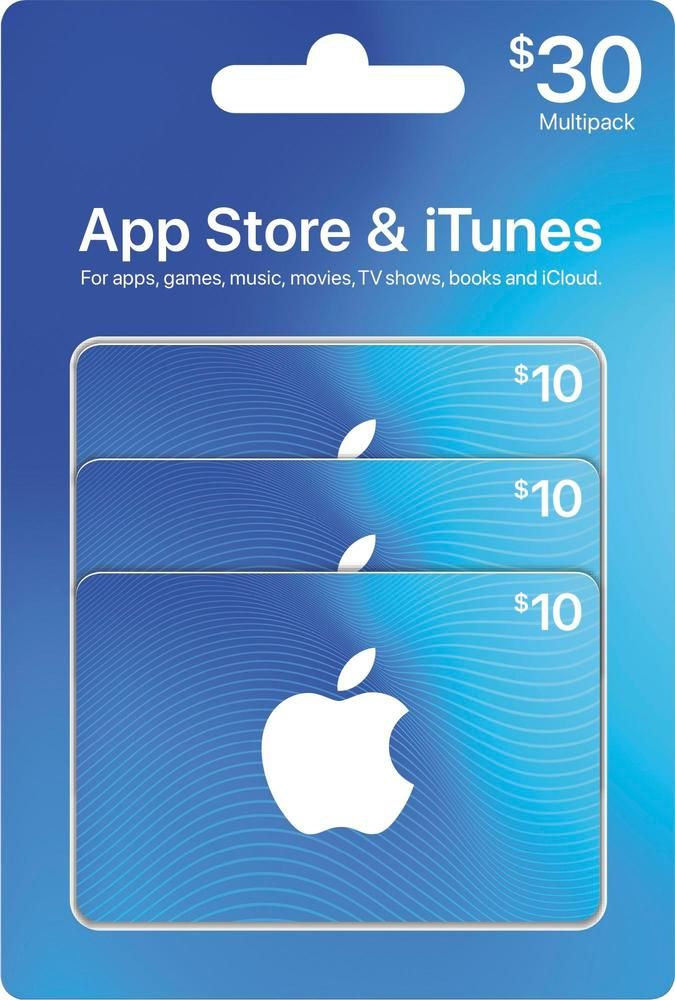 Apple 30 App Store & iTunes Gift Cards multipack ITUNES