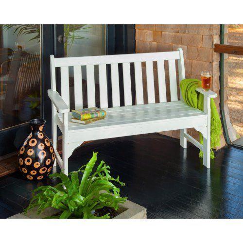 Polywood Vineyard Recycled Plastic Garden Bench Wooden Garden