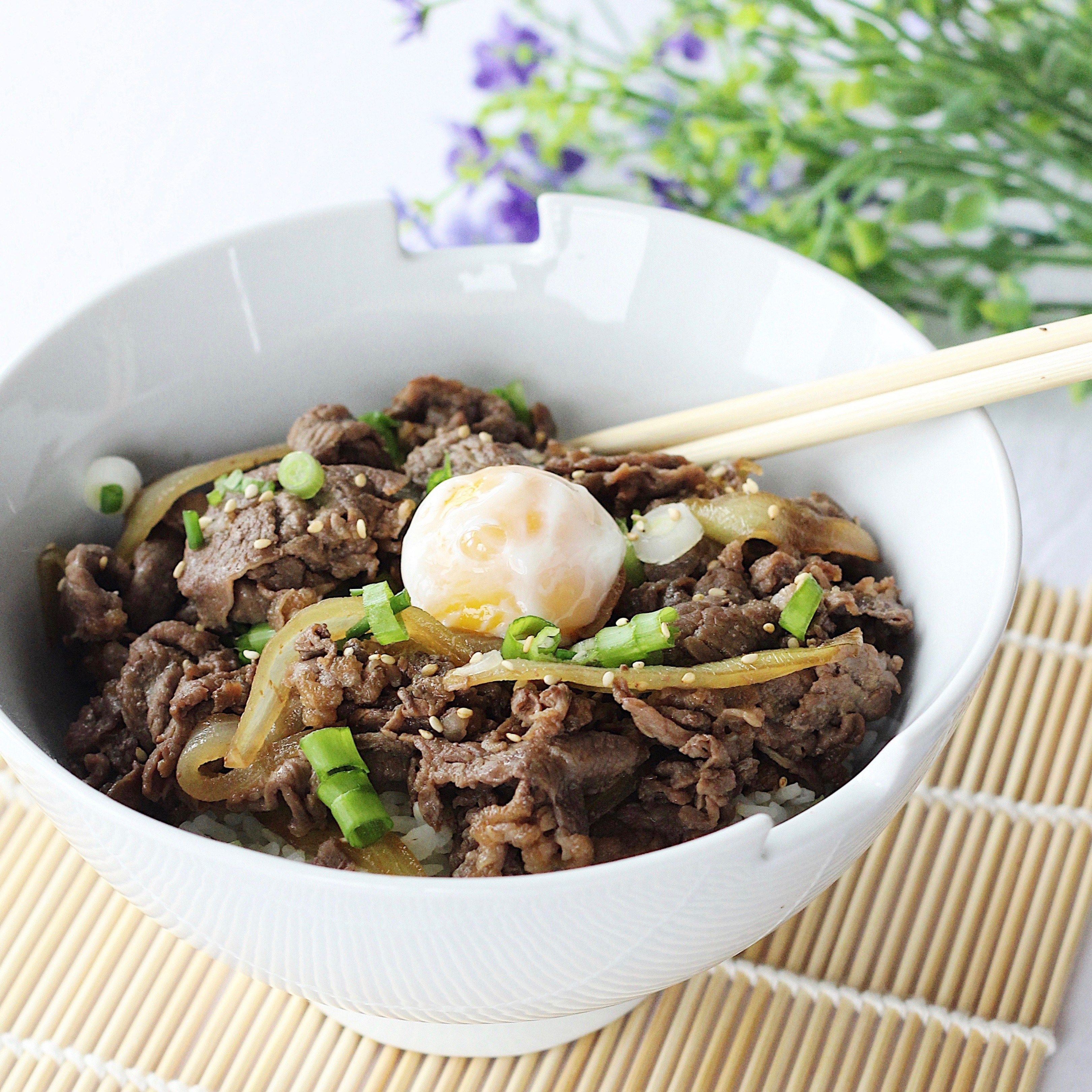 Japanese beef bowl gyudon recipe recipes japanese pinterest japanese beef bowl gyudon recipe forumfinder Images