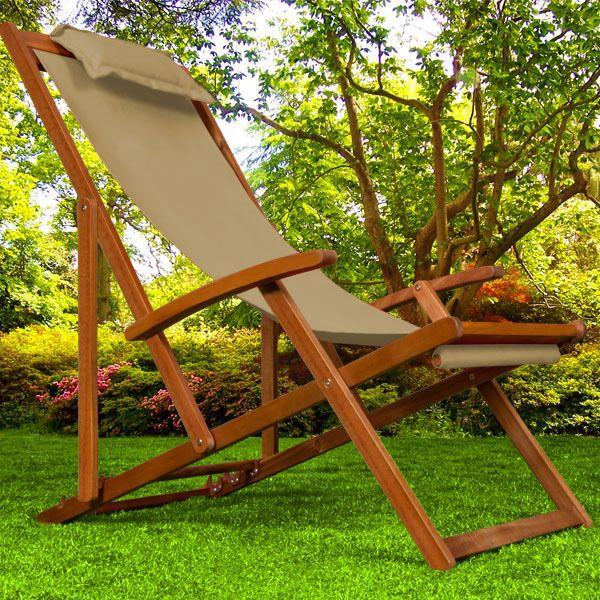 Enjoyable Wooden Folding Garden Deck Chair Made Of Acacia Hardwood Ncnpc Chair Design For Home Ncnpcorg