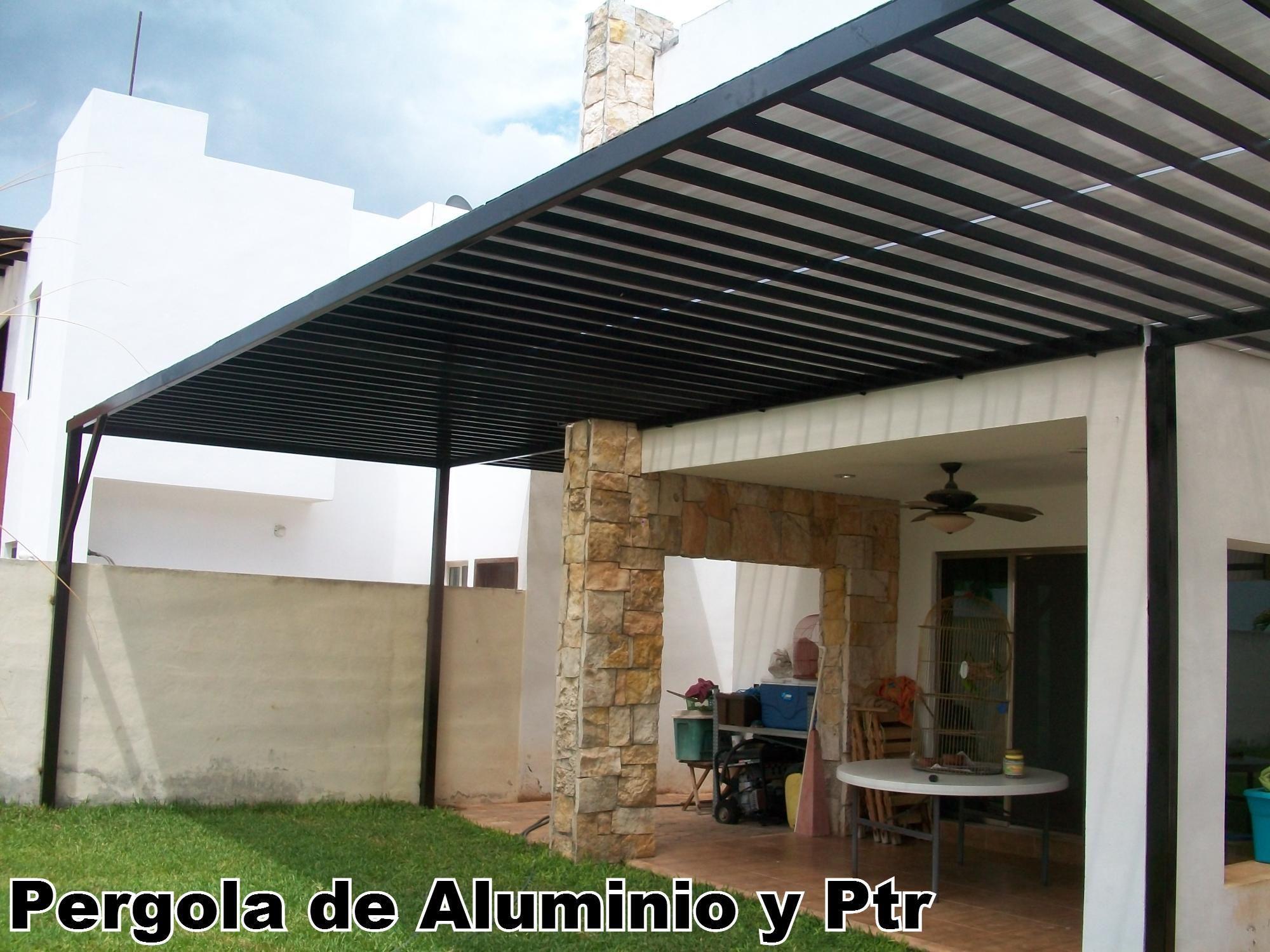 prgola estrella de aluminio y policarbonato 4x3 m gris antracita terrazas y jardines pinterest antracita aluminio y gris - Como Hacer Una Pergola