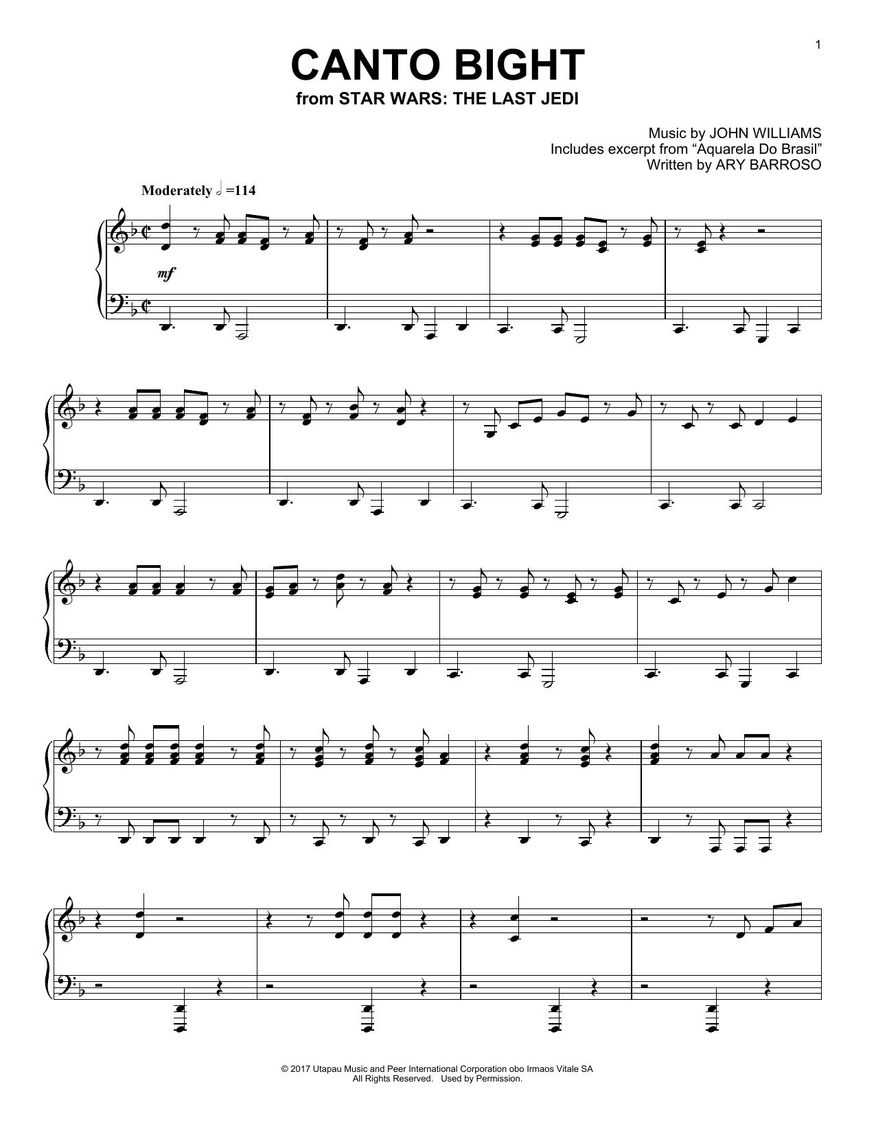 Canto Bight By John Williams Digital Sheet Music Sheet Music