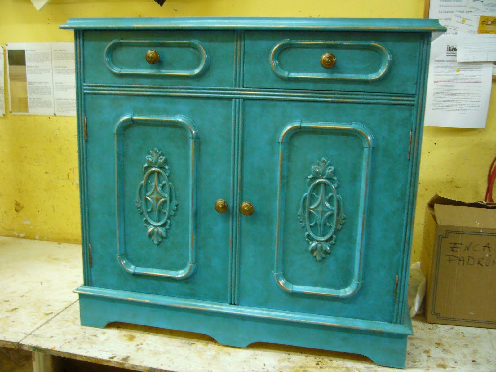 Muebles Antiguos Pintados De Colores Sillas Restauradas Sillas  # Muebles Vajilleros Antiguos