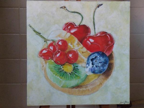 Quadro cucina con dolcetto alla frutta