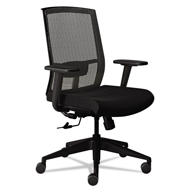 Mayline Gist Task Chair Black/Silver (Silver/Black